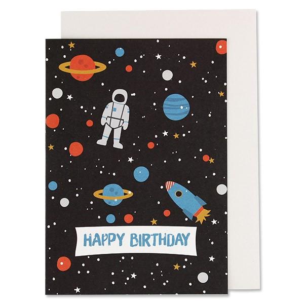 ava & yves Klappkarte Space - Happy Birthday