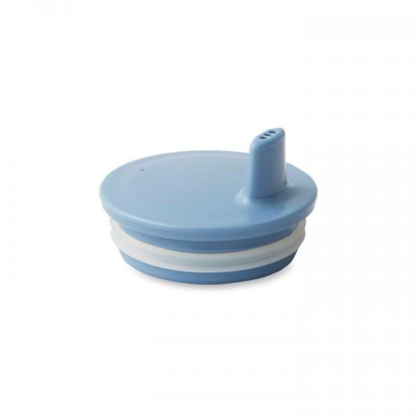 Design Letters Drink Lid for Melamine Cup - Blue