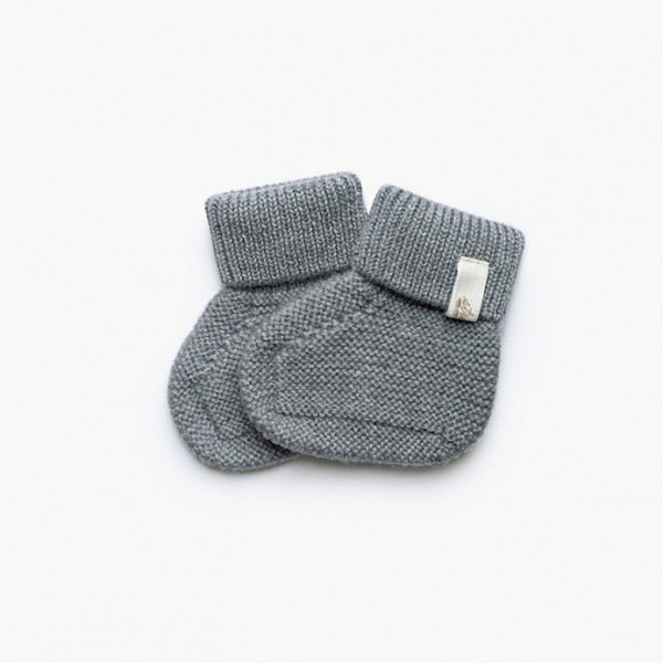 strickgut Babyschühchen - grau