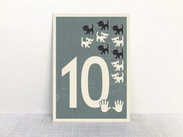 Monimari Zahlenkarte - 10