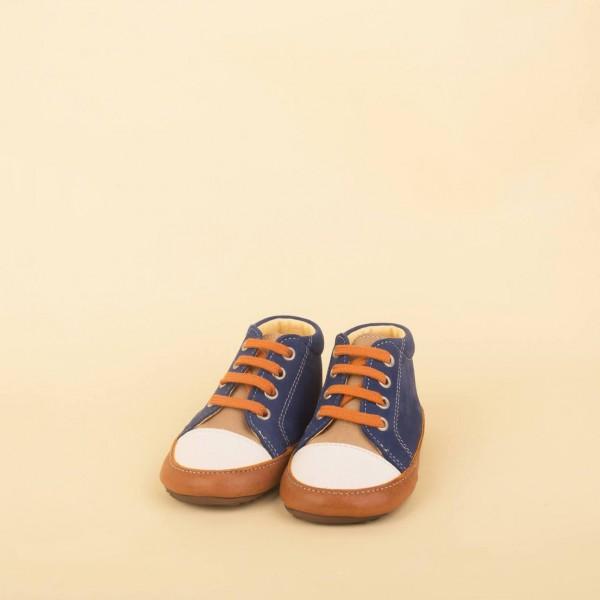 Sneaker Bootie - blue/orange