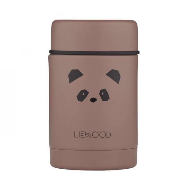 Liewood Nadja food jar - panda dark rose