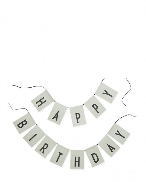 Design Letters HAPPY BIRTHDAY Girlande - green