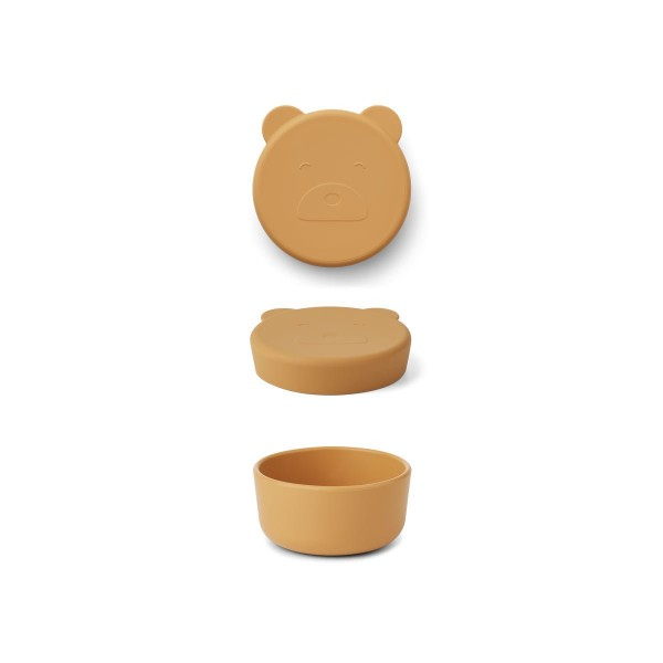 Liewood Carrie snack box - Mr bear yellow mellow