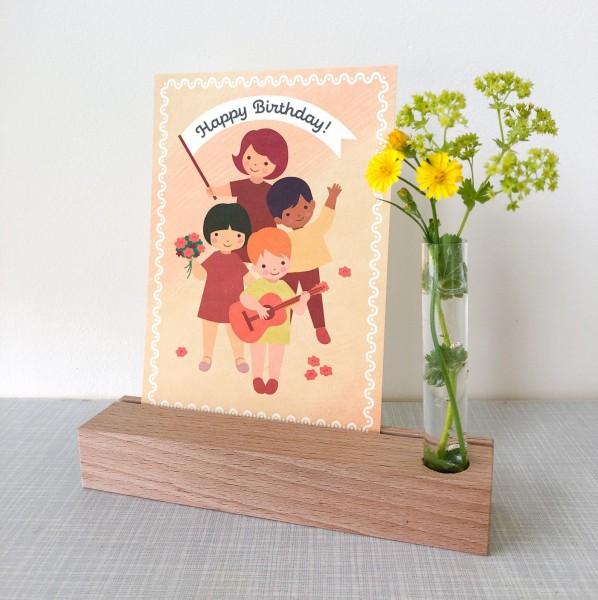 Monimari Postkarte - Kinderparade Happy Birthday
