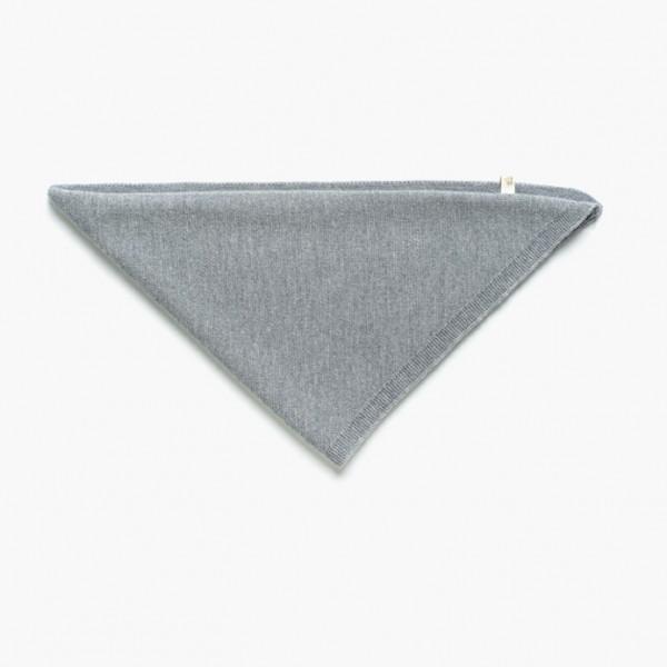 strickgut Dreieckstuch Kind - grau