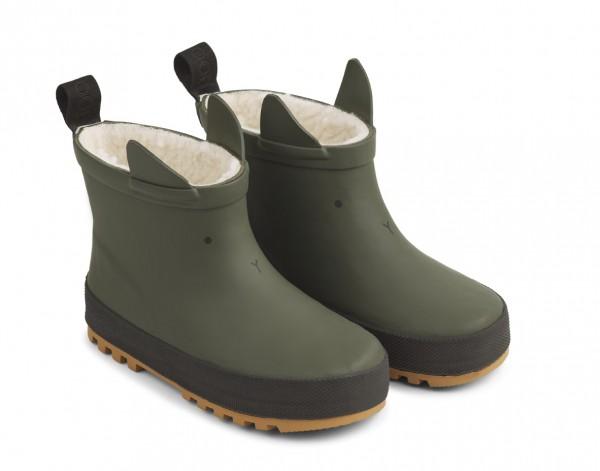 Liewood Jesse Thermo Rain Boot - HUNTER GREEN/BLACK MIX